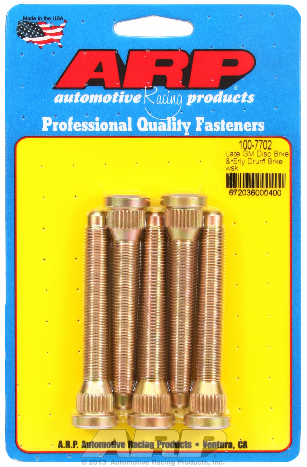 Wheel Stud Kit for Late GM Disk Brakes and Early Drum Brake