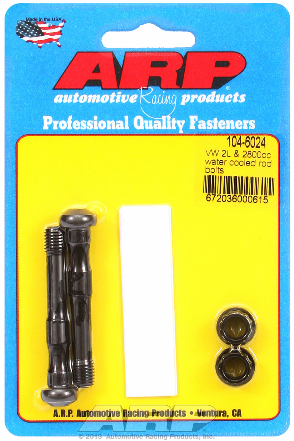 Pro Series ARP2000 2-pc Rod Bolt Kit for Volkswagen/Audi 1.8L & 2.0L water cooled