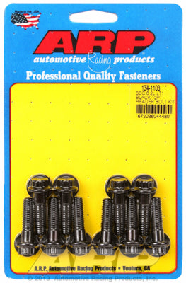 Header Bolt Kit For Chevrolet 3/8˝ wide header flange - 6.2L (LT1/LT4) Black Oxide 12-Pt Head
