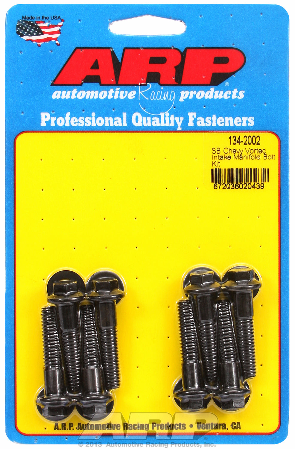 Hex Head Black Oxide Intake Manifold Bolts for Chevrolet 305-350 Vortec, fits most aftermarket alum.