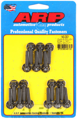 Coil Bracket Bolt Kit for Chrysler 5.7l & 6.1L Hemi Black Oxide - 12-Pt Head