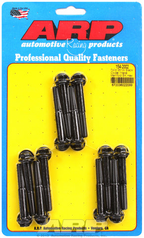 Hex Head Black Oxide Intake Manifold Bolts for Ford 351W, uses 3/8 wrenching