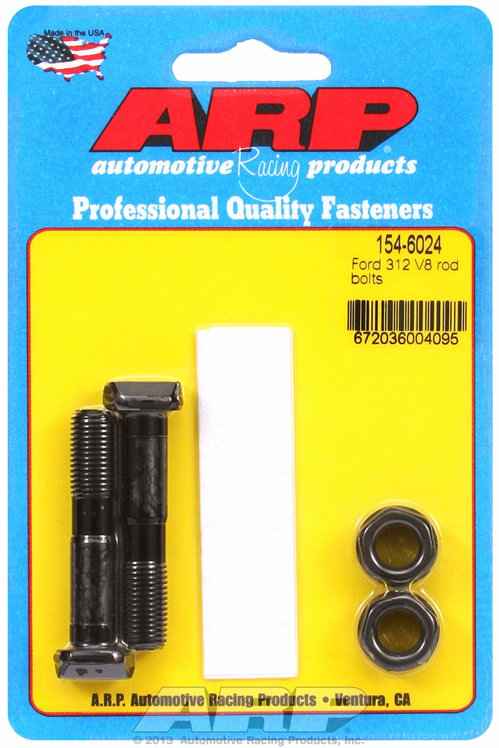 Hi-Perf 8740 (2-pc) Rod Bolt Kit for Ford 239-256-272-292 Y block (rod marked ECZ)