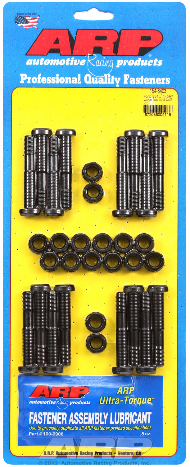 HP Wave 8740 Complete Rod Bolt Kit for Ford 351 Cleveland