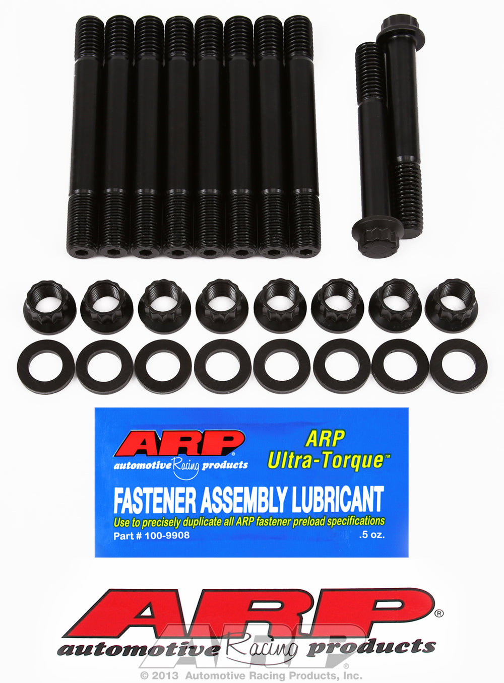 Main Stud Kit for Ford 390-428 cid FE series (12 pt nuts, 8 studs & 2 bolts for #5 cap) - no modific