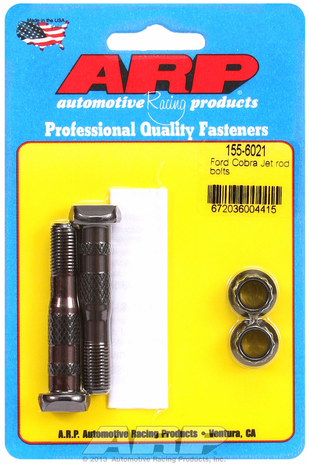 Hi-Perf 8740 (2-pc) Rod Bolt Kit for Ford 428 Cobra Jet (replacement for 13/32˝ bolt)