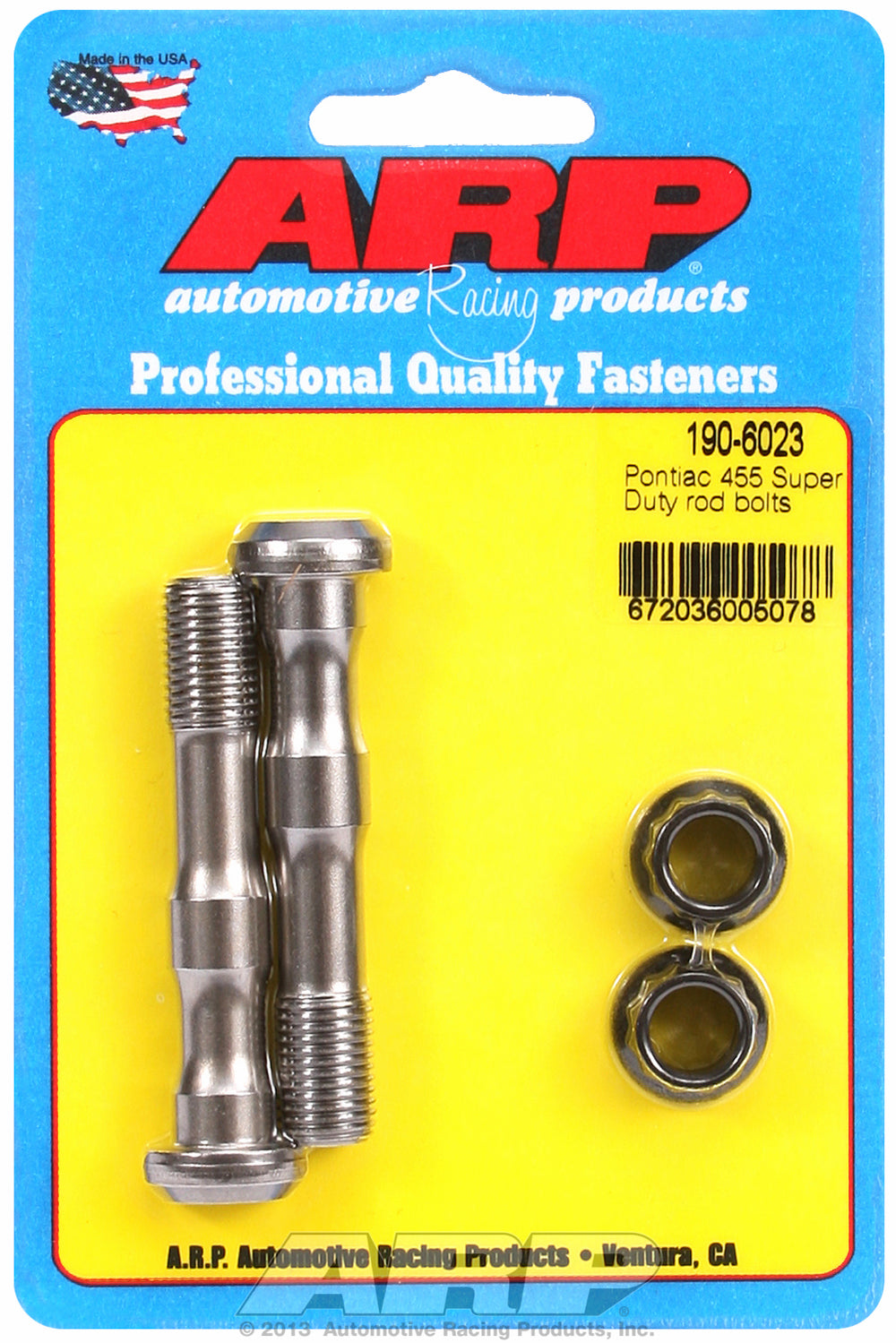Hi-Perf 8740 (2-pc) Rod Bolt Kit for Pontiac 455 Super Duty 7/16˝