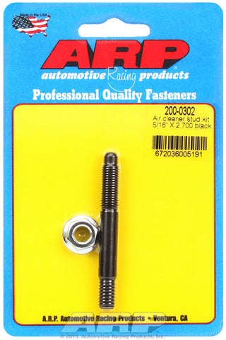 Black Oxide 5/16in x 2.700 air cleaner stud kit