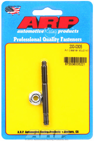 Black Oxide 1/4in x 2.700  air cleaner stud kit