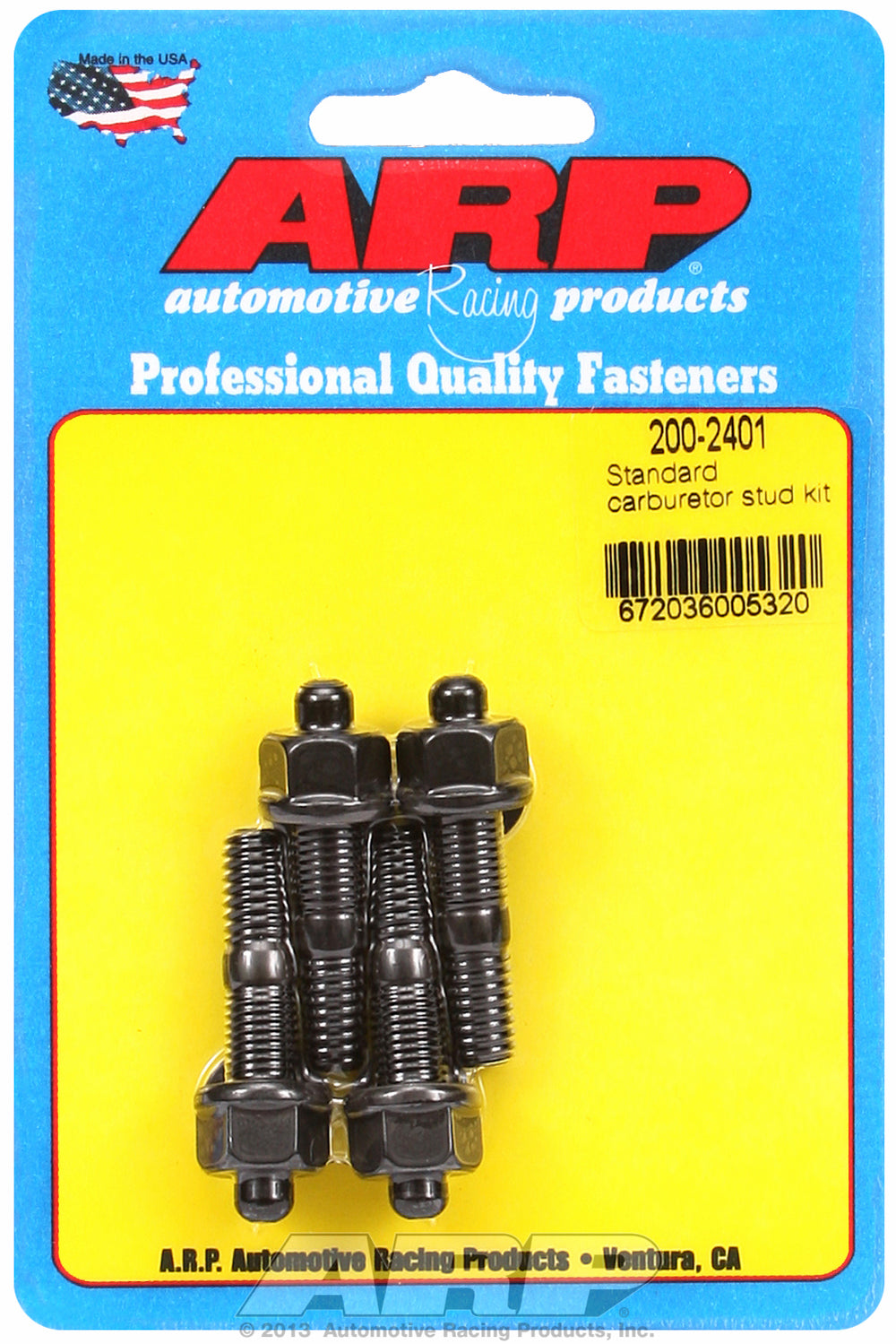 Standard Carb Stud Kit 1.7in OAL