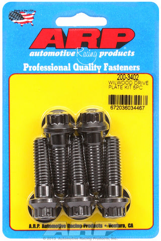 Drive Plate Bolt Kit for Wilwood, 7/16in, Drilled 12pt Head, 5pcs