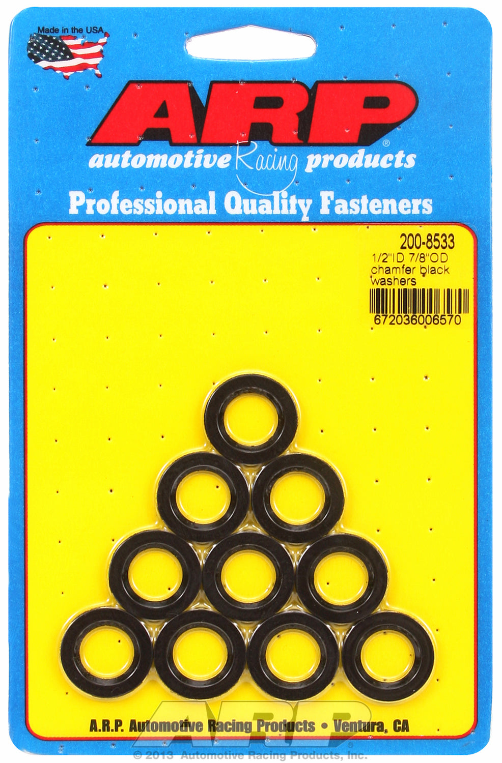 Black Oxide 10-PC Pack SAE Special Purpose Washers