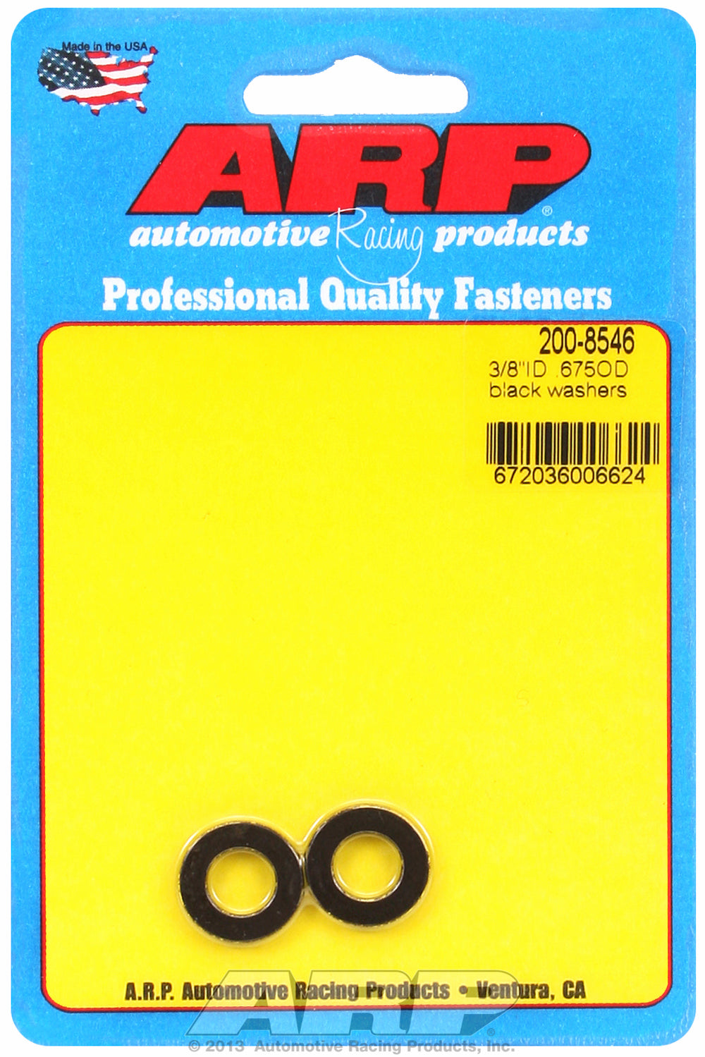 Black Oxide 2-PC Pack SAE Special Purpose Washers