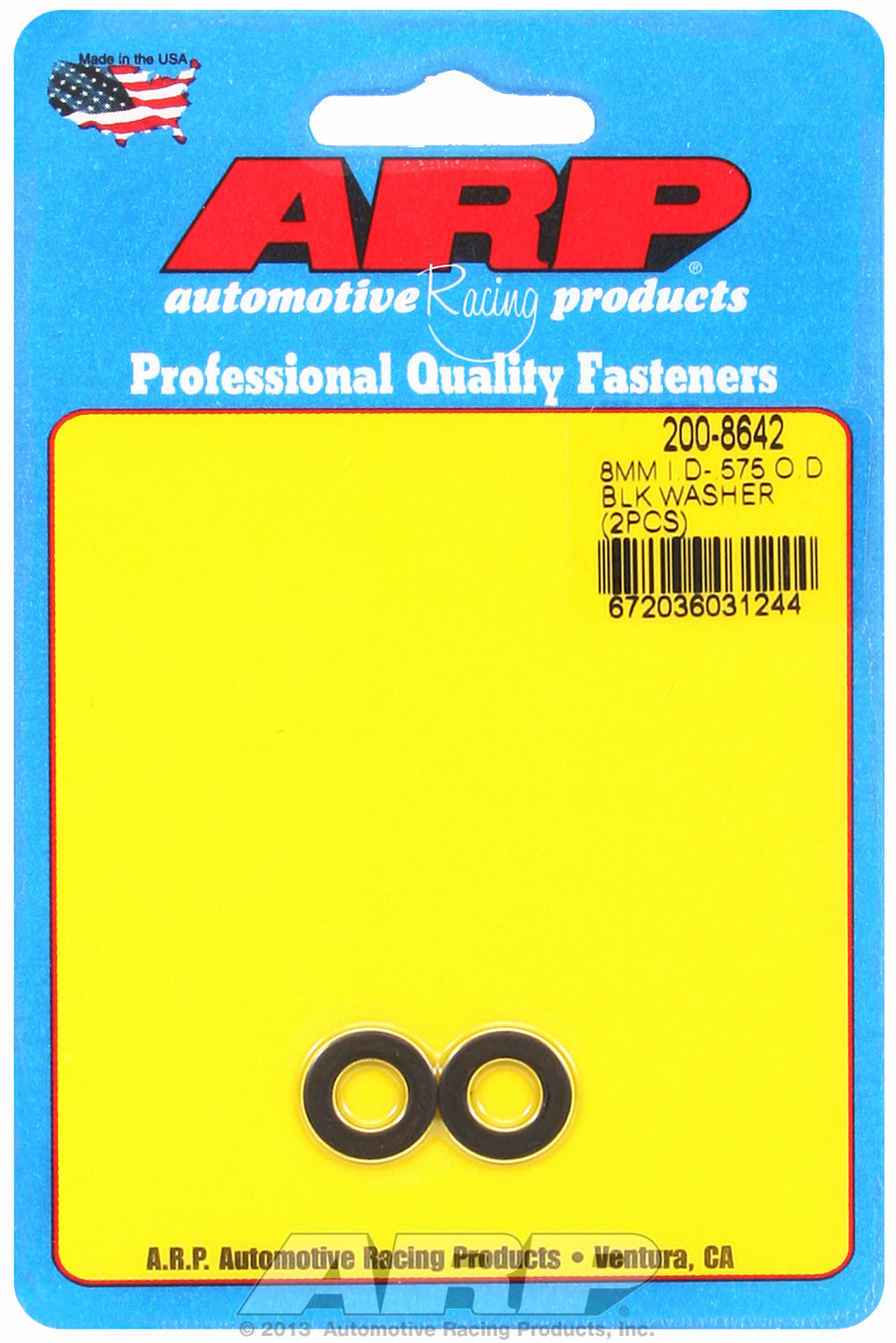 Black Oxide 2-PC Pack Metric Special Purpose Washers