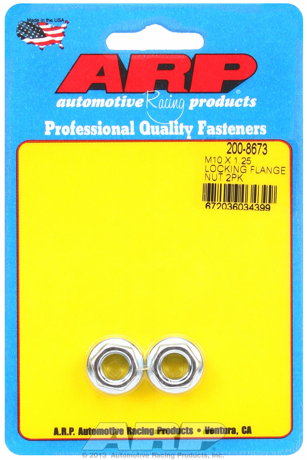 M10 x 1.25 2-Pc Pack Serrated Flange Nut