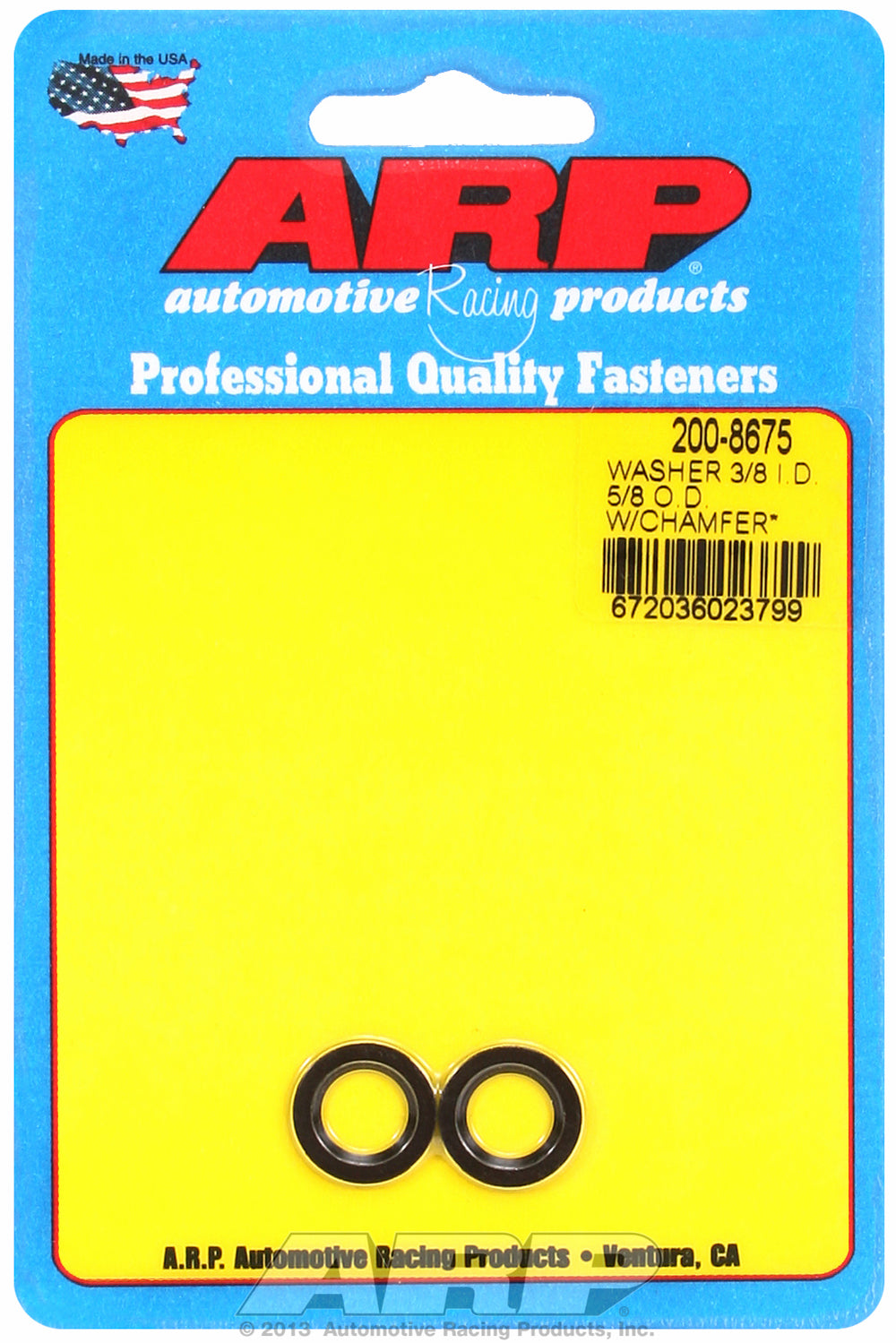 Black Oxide 2-PC PackSAE Special Purpose Washers w/ Chamfer