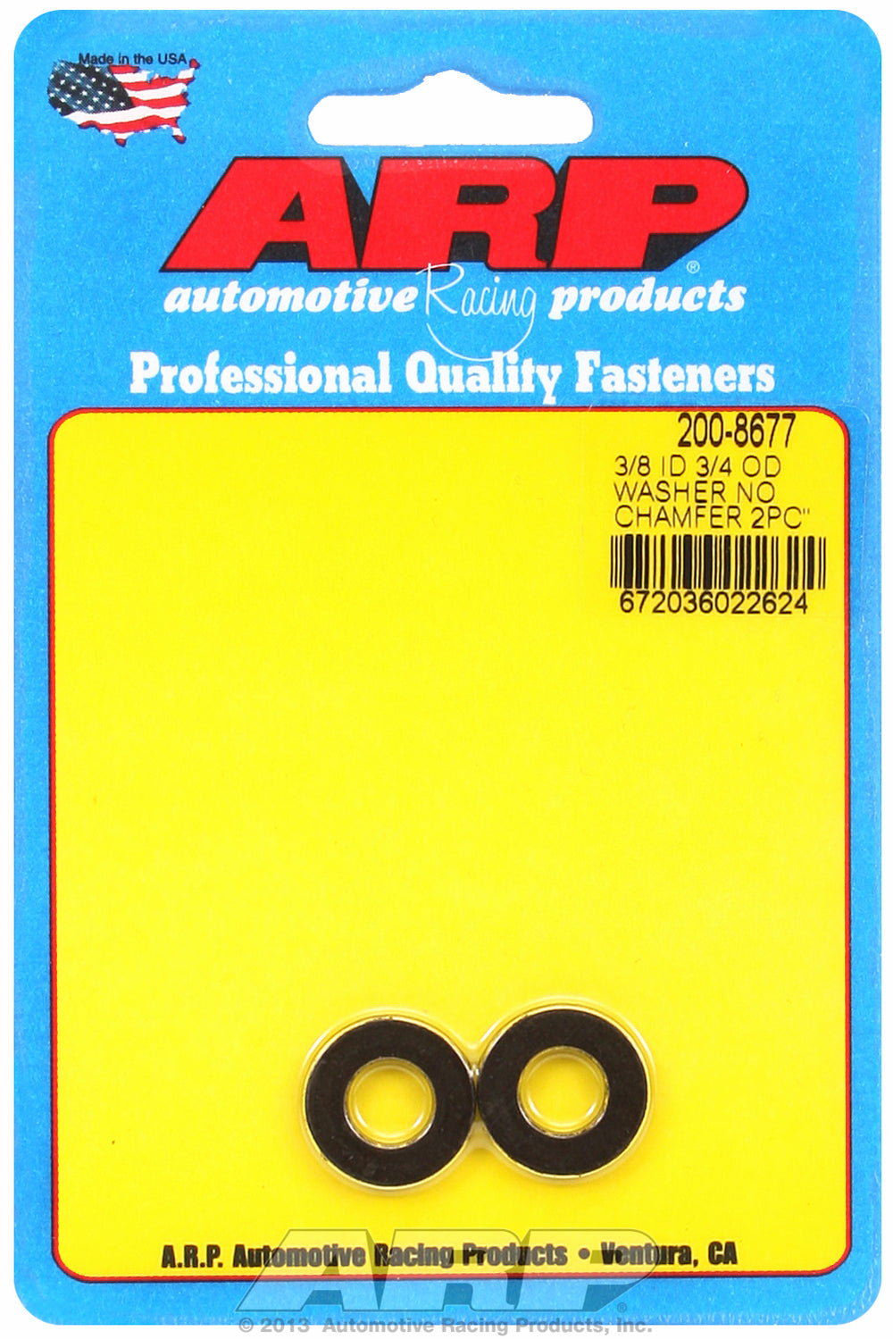 Black Oxide 2-PC PackSAE Special Purpose Washers
