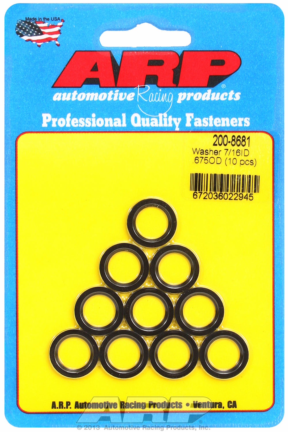 rod bolt washer 10-PC PackSAE Special Purpose Washers w/ Chamfer
