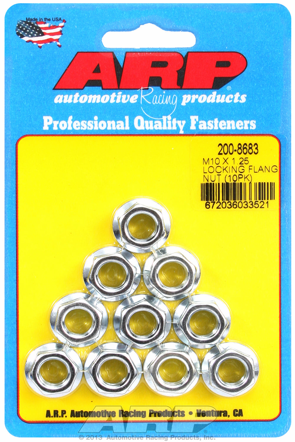 M10 x 1.25 10-Pc Pack Serrated Flange Nut