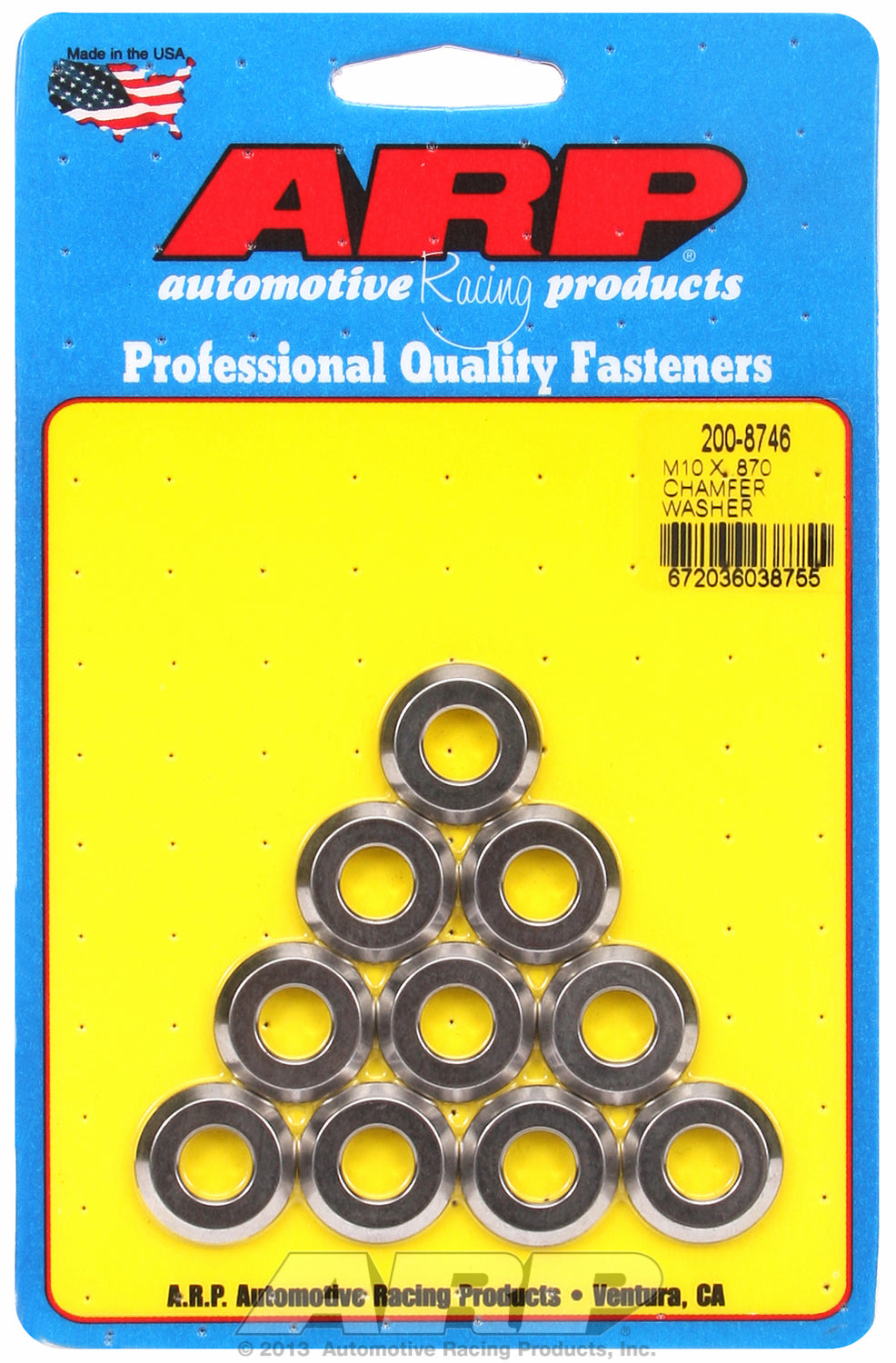 Black Oxide 10-PC Pack Metric Special Purpose Washers w/ Chamfer