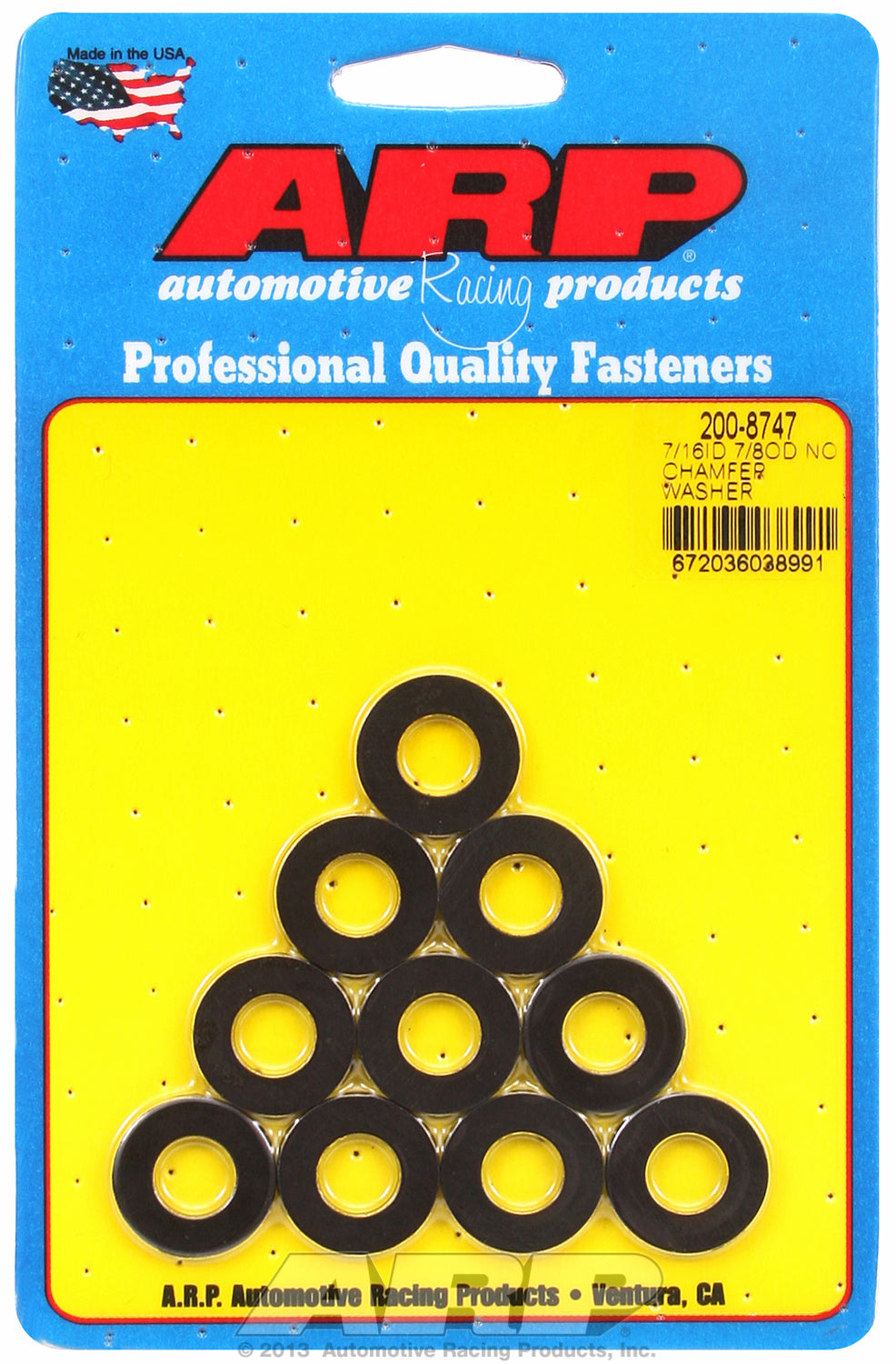 Black Oxide 10-PC PackSAE Special Purpose Washers