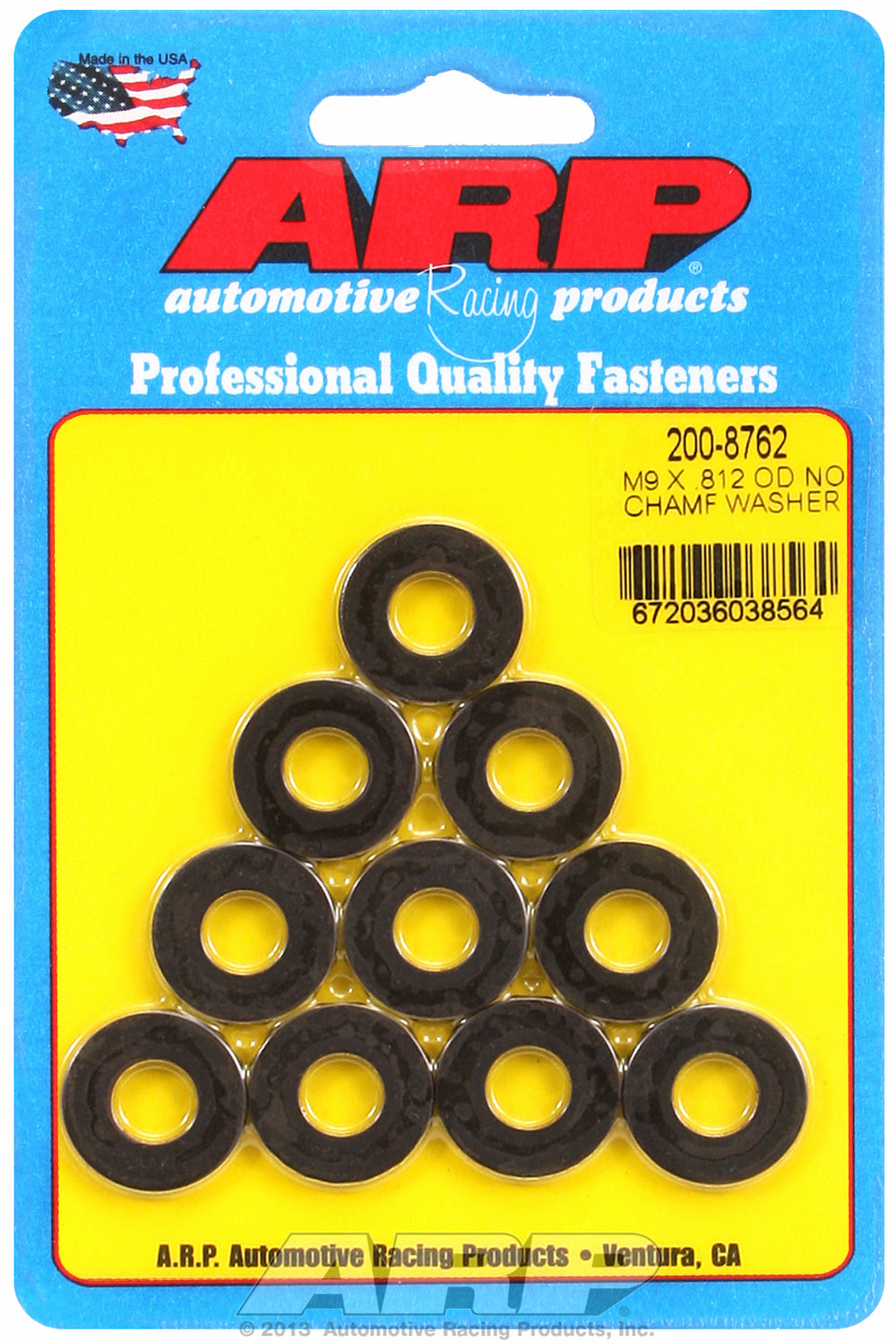 Black Oxide 10-PC Pack Metric Special Purpose Washers