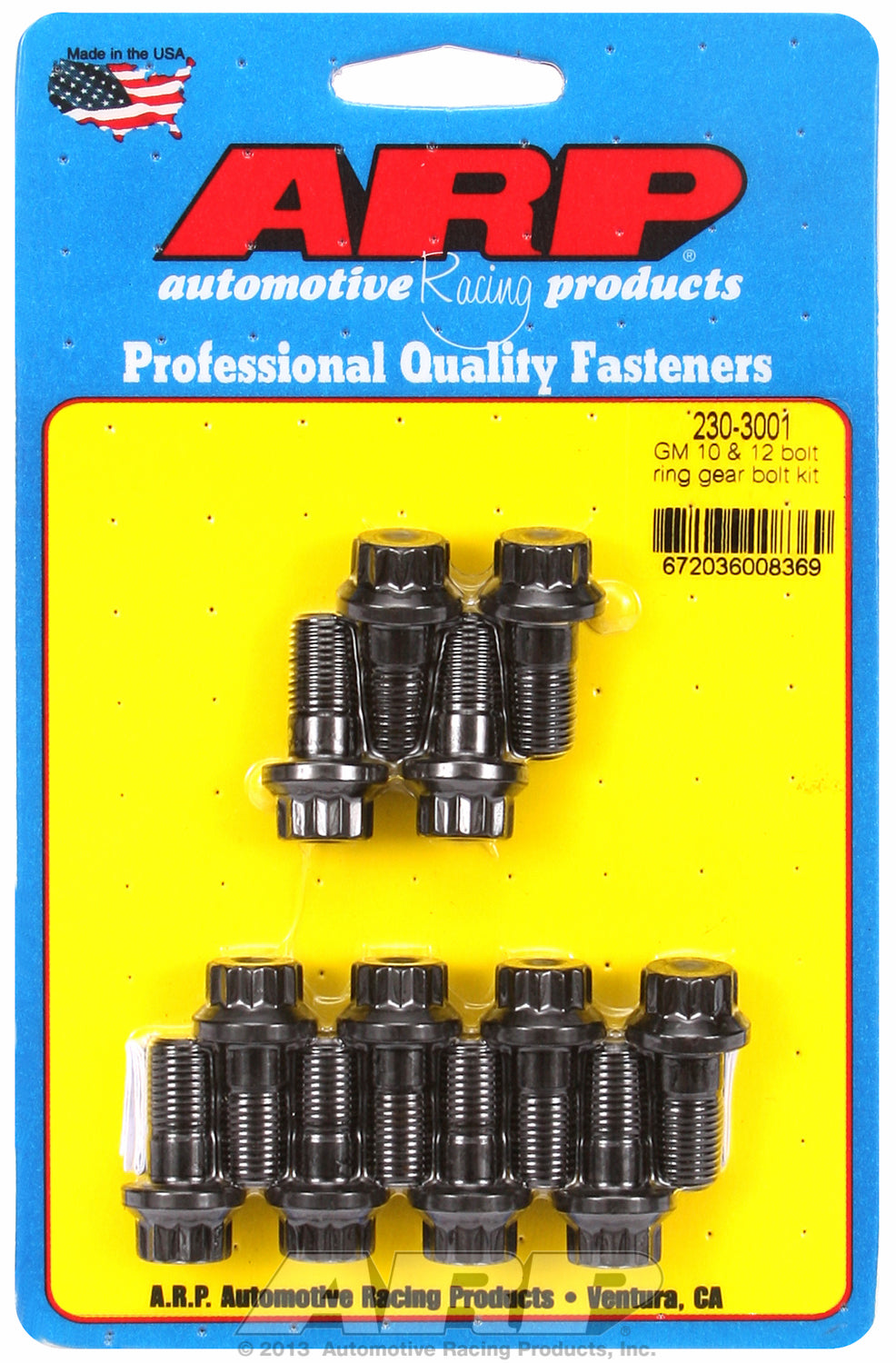 Ring Gear Bolt Kit for GM 8.2˝ 10-bolt and all 12-bolt