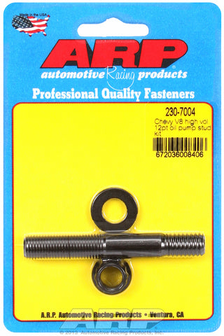 Oil Pump Stud Kit for Chevrolet Small & big block, 3.125˝, high volume Black Oxide - 12-Pt Head