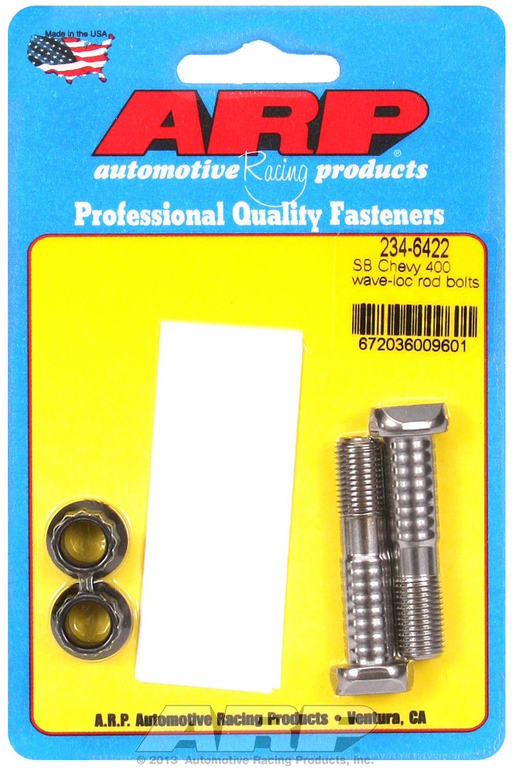 Pro Wave ARP2000 2-pc Rod Bolt Kit for Chevrolet 400 cid