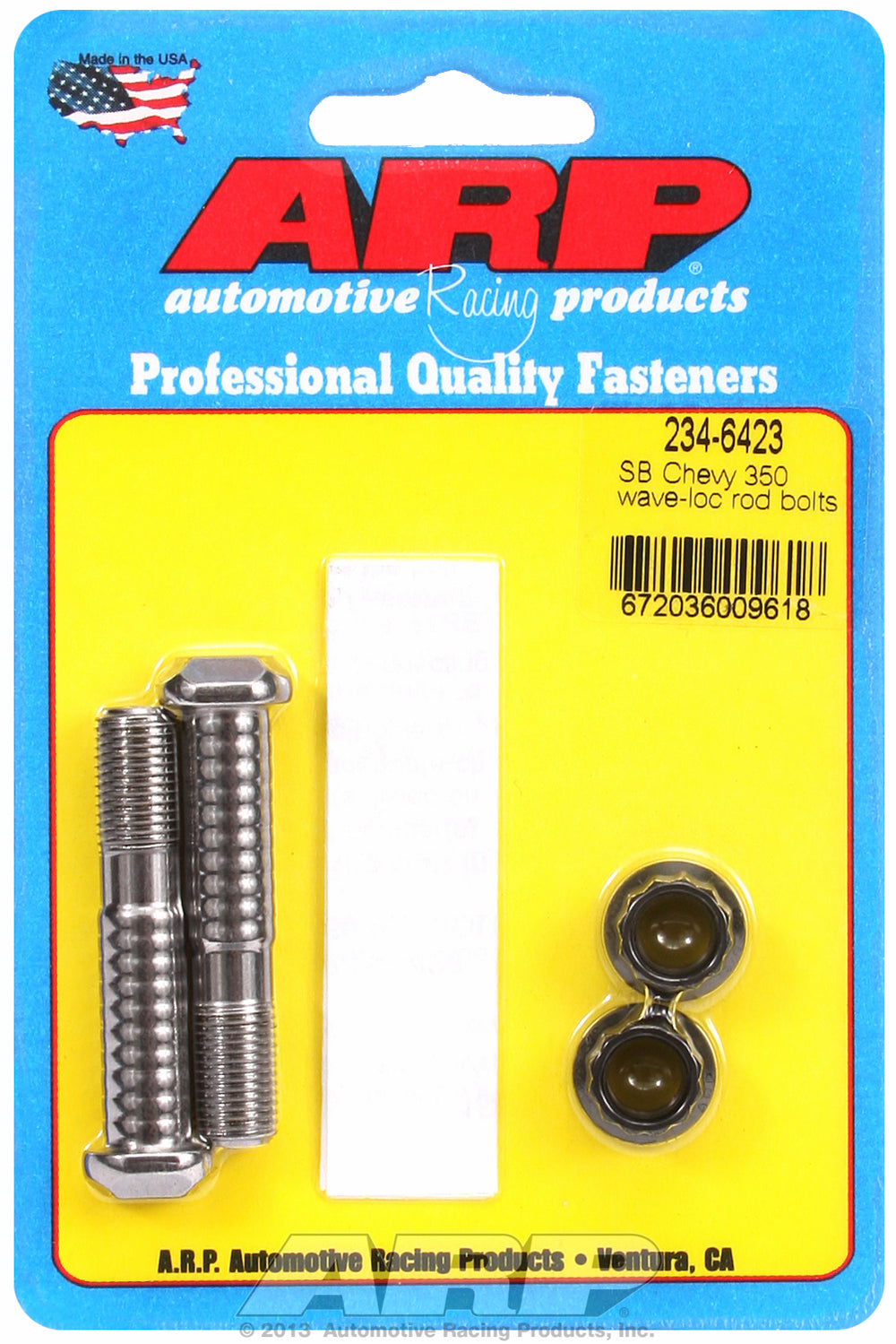 Pro Wave ARP2000 2-pc Rod Bolt Kit for Chevrolet 305-307-327-350 cid (large journal) 3/8˝