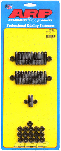 12-Pt Head Black Oxide Oil Pan Stud Kit for Chevrolet 396-454 cid (w/ standard 2-pc. cork gasket)