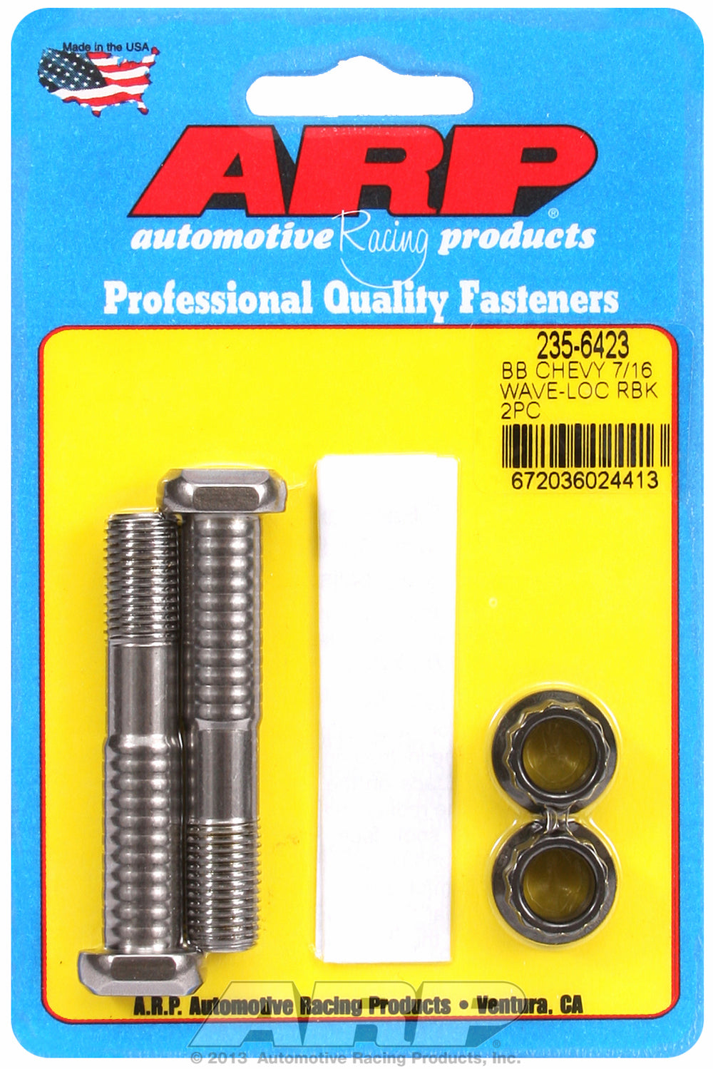 Pro Wave ARP2000 2-pc Rod Bolt Kit for Chevrolet 454-502 cid 7/16˝ with 12 pt nuts