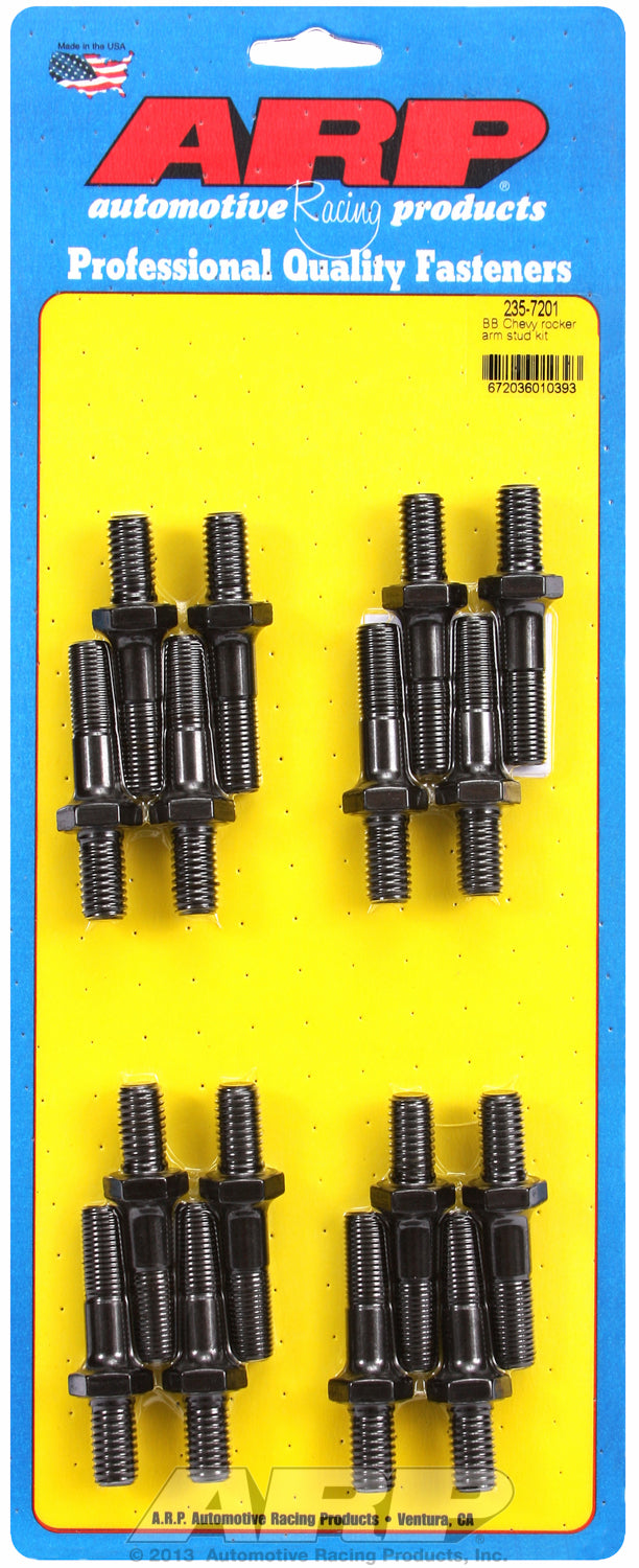 Pro Series Rocker Arm Studs for 7/16˝ typical big block application These parts have a shank portion
