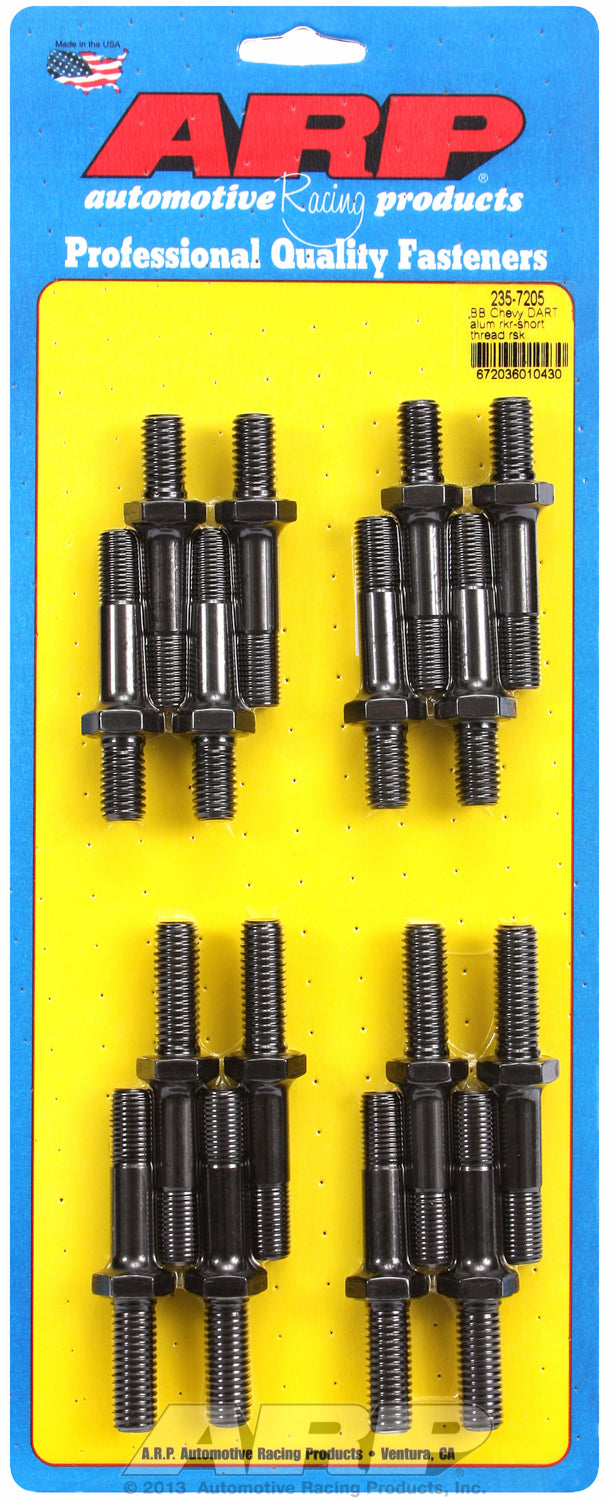 Pro Series Rocker Arm Studs for Dart aluminum, 16 pieces These parts have a shank portion under hex