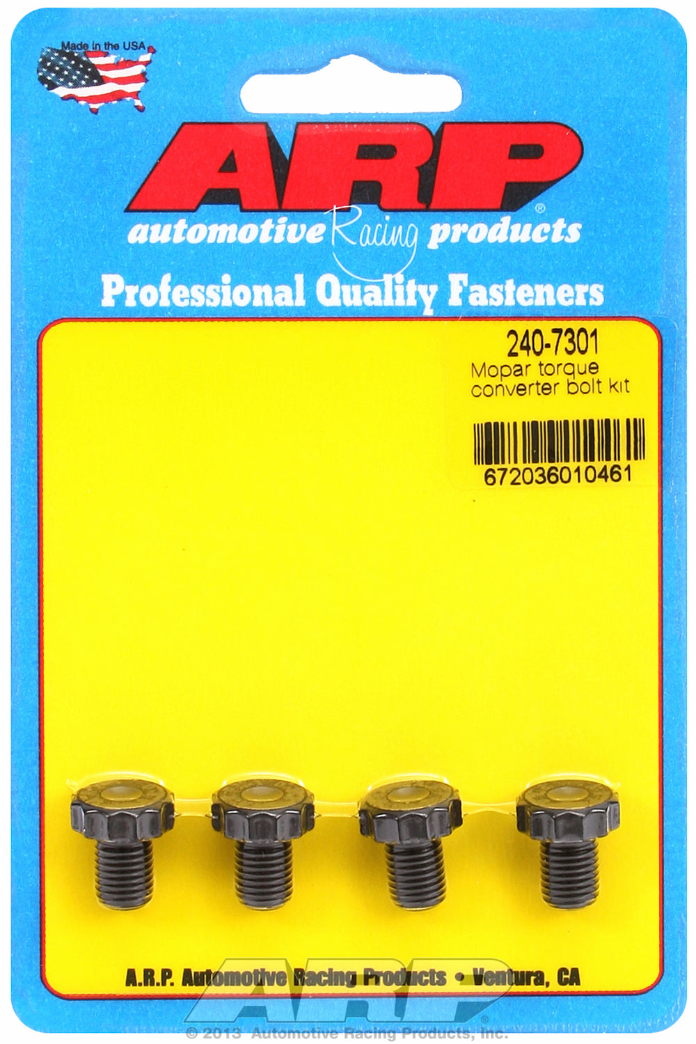 Pro Series Torque Converter Bolts for Chrysler,Dodge Torqueflite 727 & 904 w/ production converter