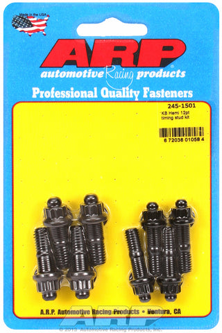 12-Pt Black Oxide Timing Stud Kit for KB Hemi, timing cover