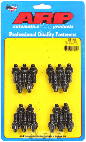 12-Pt Head Black Oxide Oil Pan Stud Kit for Chrysler KB Hemi, 1.300˝ U.H.L