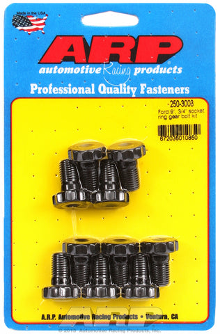Ring Gear Bolt Kit for Ford 8.8˝ and 9˝ uses 3/4˝ socket