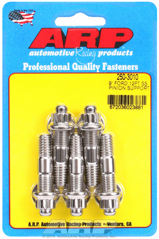 9˝ pinion support stud kit (12 pt, ss) for Ford 2 UHL 3/8-16, 3/8-24 Thread