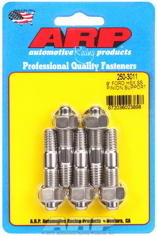 9˝ pinion support stud kit (hex, ss) for Ford 2 UHL 3/8-16, 3/8-24 Thread