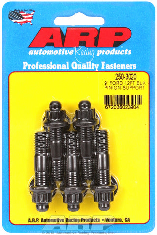 9˝ pinion support stud kit (12 pt, blk) for Ford 2 UHL 3/8-16, 3/8-24 Thread