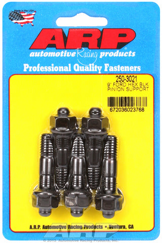 9˝ pinion support stud kit (hex, blk) for Ford 2 UHL 3/8-16, 3/8-24 Thread