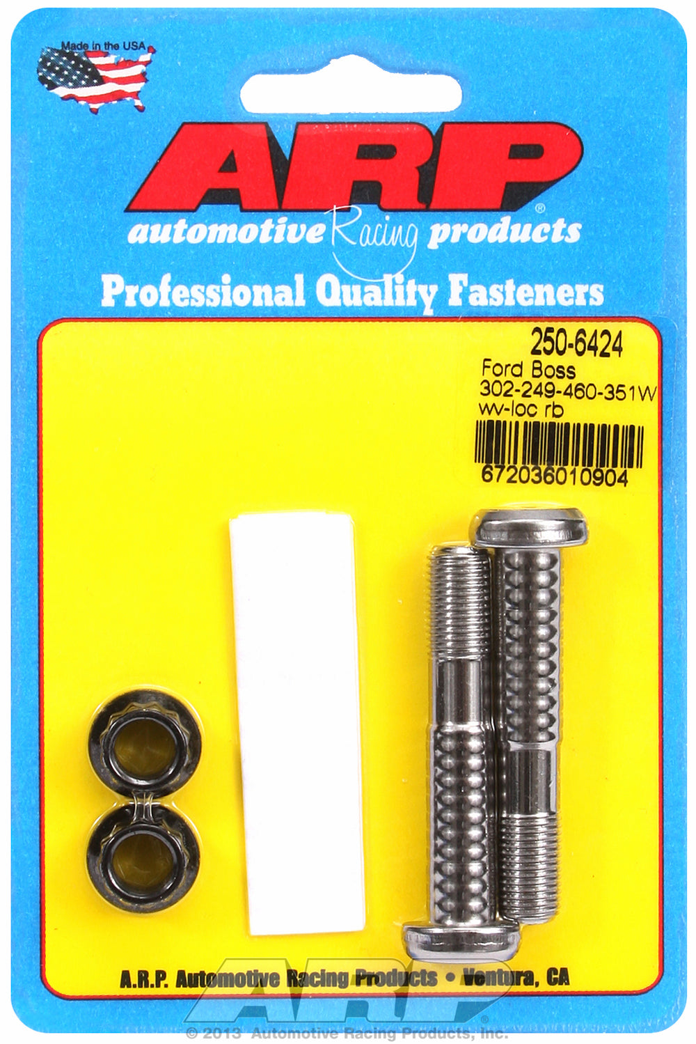 Pro Wave ARP2000 2-pc Rod Bolt Kit for Ford Boss 302 & 351W