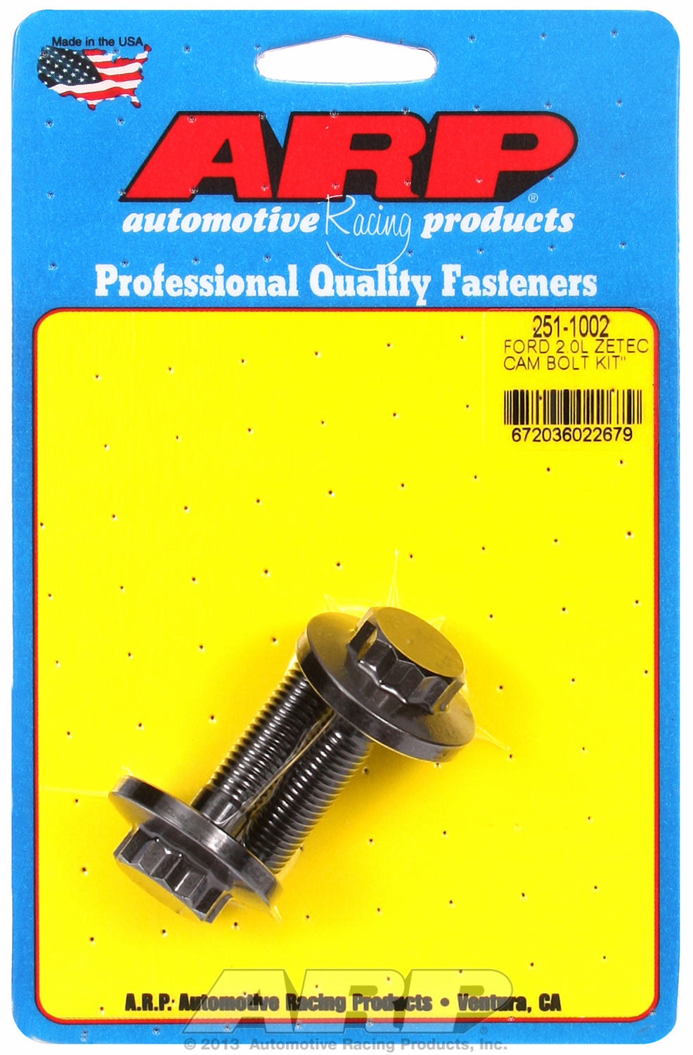 Cam Bolt Kit for Ford 2.0L Zetec