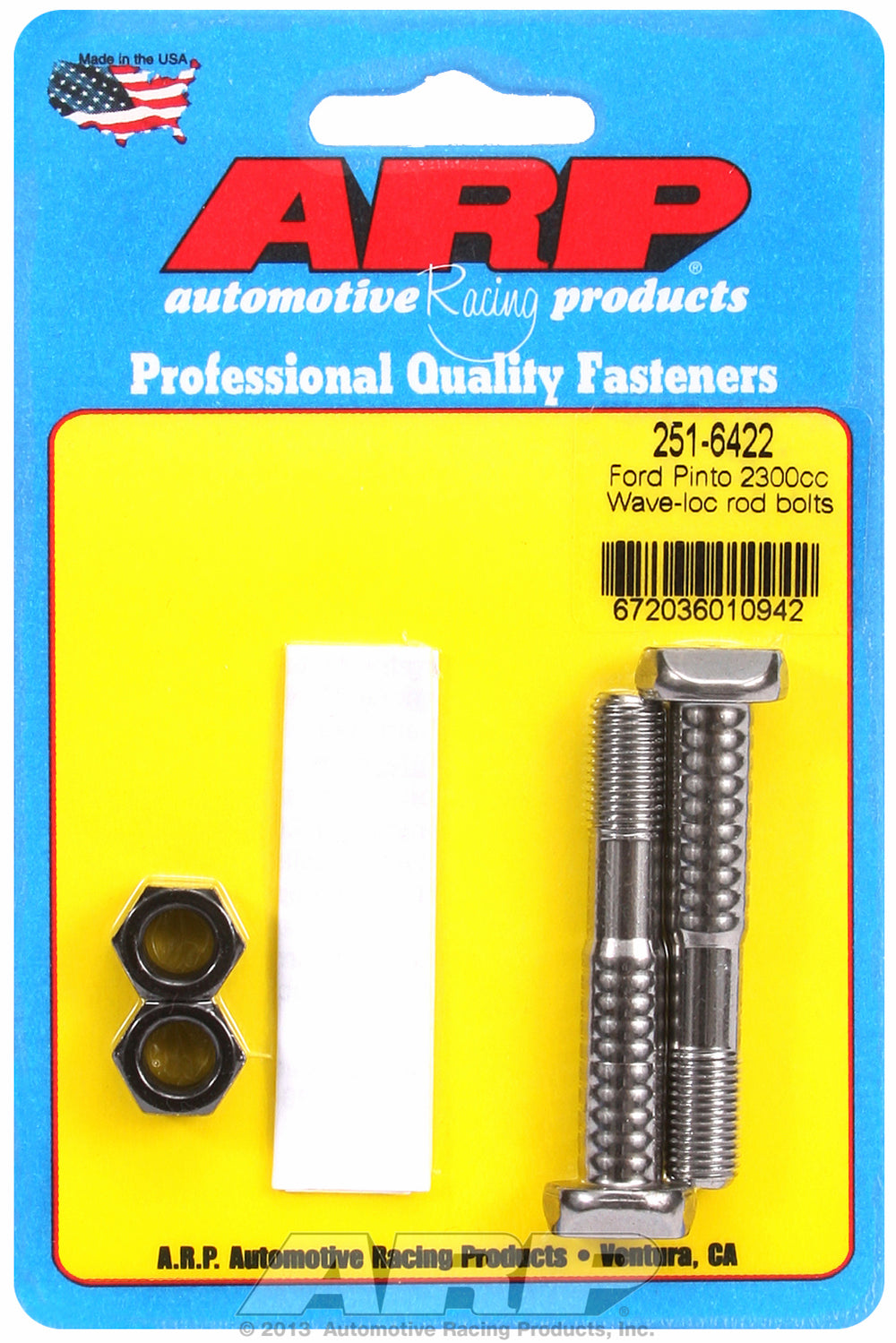 Pro Wave ARP2000 2-pc Rod Bolt Kit for Ford 2300cc Pinto