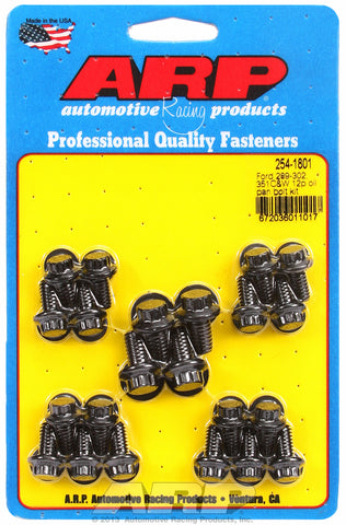12-Pt Head Black Oxide Oil Pan Bolt Kit for Ford 289-302-351C & 351W (early model)