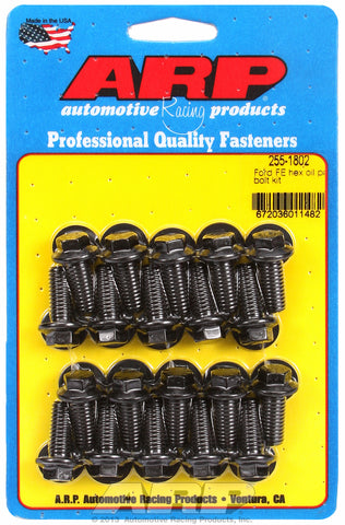 Hex Head Black Oxide Oil Pan Bolt Kit for Ford 390-428 cid FE Series
