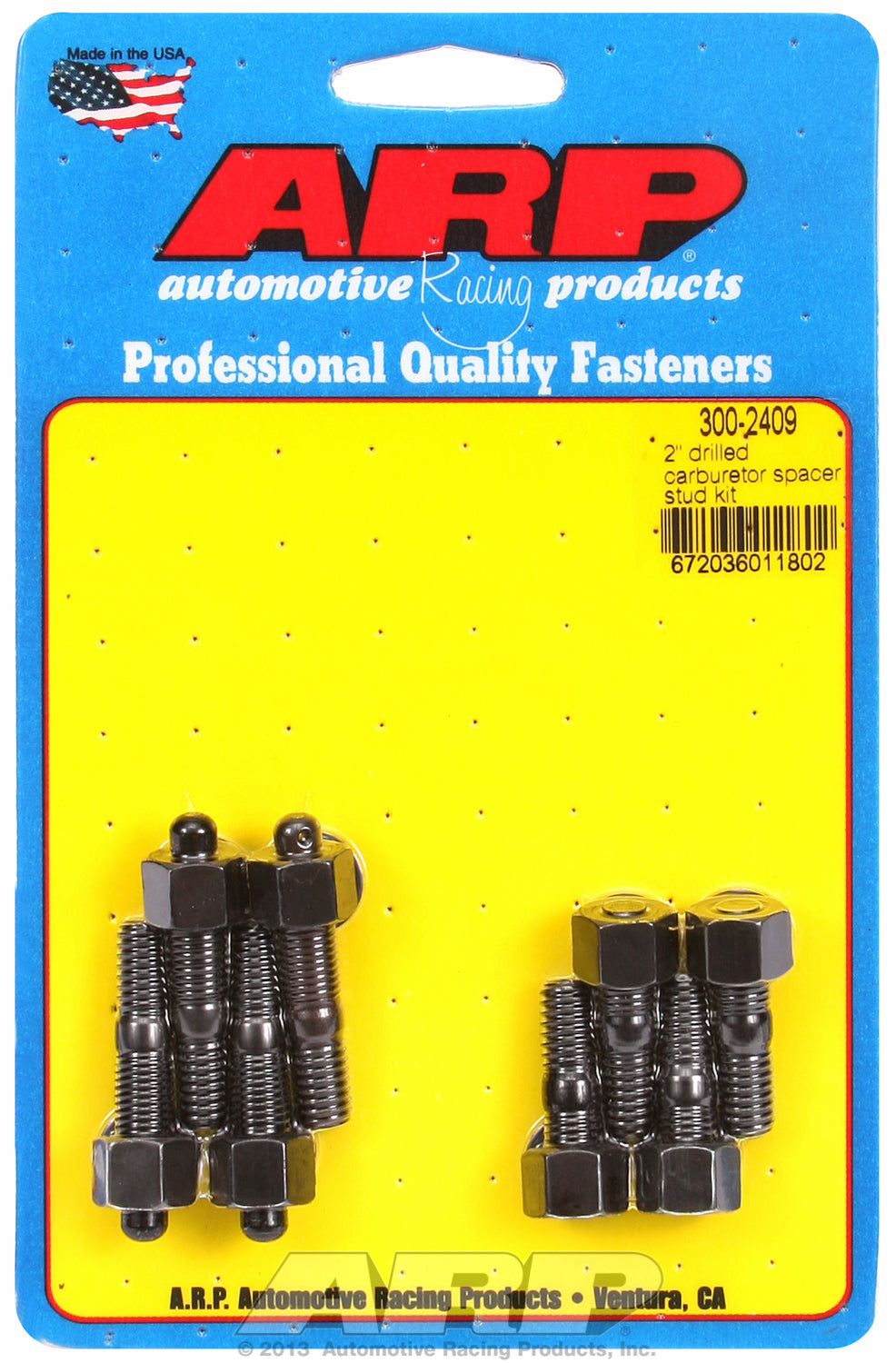 2˝ Moroso spacer (drilled for NASCAR wire seal) Carb Stud Kit 1.250* (4) & 1.700 (1) & 1.700 (1)in OA