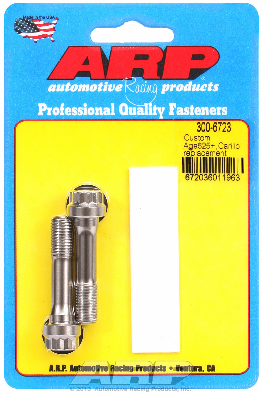Custom Age 625+ General Replacement Rod Bolt Kit 2-pc