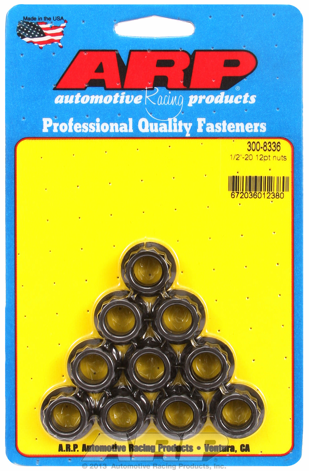 1/2in  8740 Black Oxide 12-pt Nut Kit